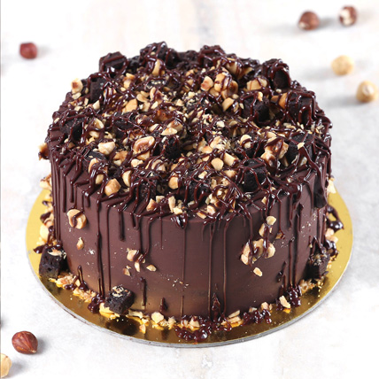 Crunchy Chocolate Hazelnut Cake Half Kg: Gift Delivery Bahrain