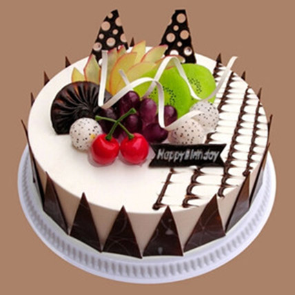 Fresh Fruit Chocolate Cake: Gifts To China
