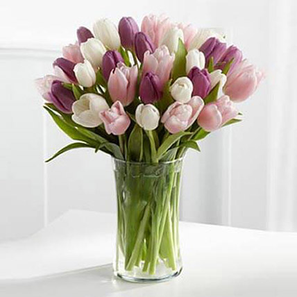 Painted Skies Tulip Bouquet KT: Kuwait Flowers