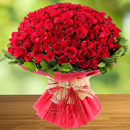 100 Red Roses: Gifts in Ras Al Khaimah