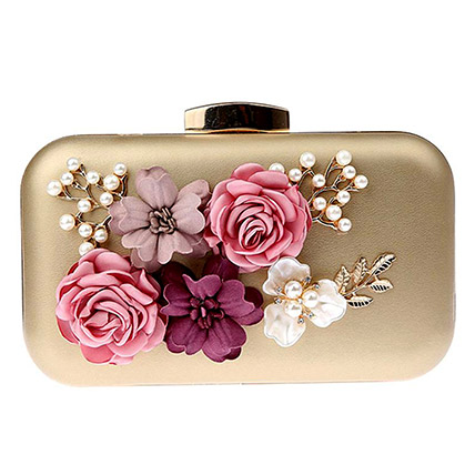 3D Floral Design Clutch: Accessories