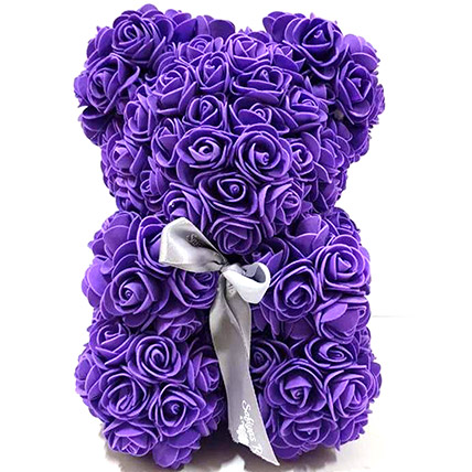 Artificial Roses Teddy Purple: