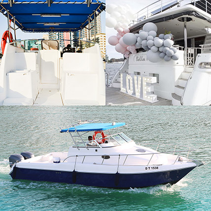ASFAR 1 Boat With Balloon Decor Online: Experiential Gifts