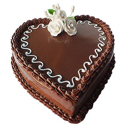 Choco Heart Cake: Valentine Day Cakes for Boyfriend