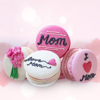 Customized Macaroons 4 Pcs: Cakes for Mothers Day