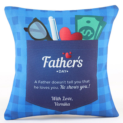 Fathers Day Special Personalised Cushion: Fathers Day Personalised Gifts