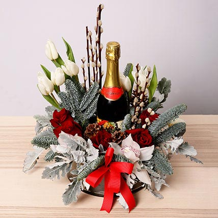 Floral Christmas Hamper: New Year Flowers