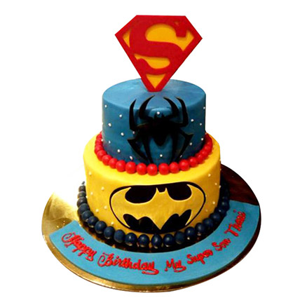 Heroes together Cake: Spiderman Cake Ideas