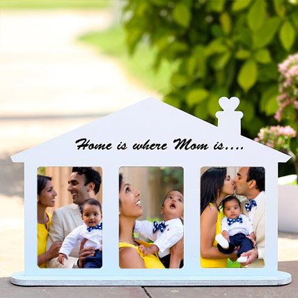 Home Shaped Personalized Frame: Personalised Gifts for Mother