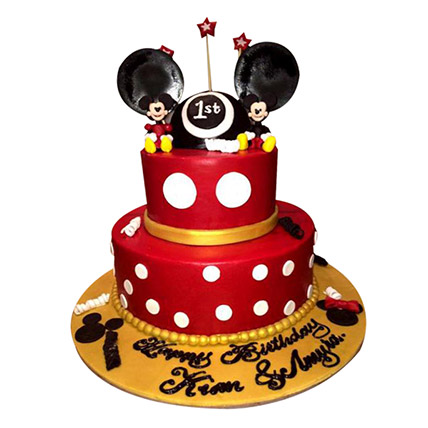Minnie and Mickey Mouse Cake: Minnie Birthday Cake