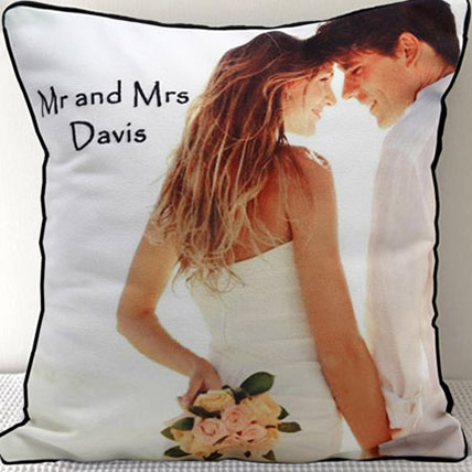 Mr N Mrs Personalized Cushion: Personalised Gifts to Sharjah