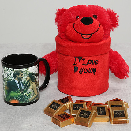 Personalised Mug and Teddy Bear Combo: Birthday Mugs