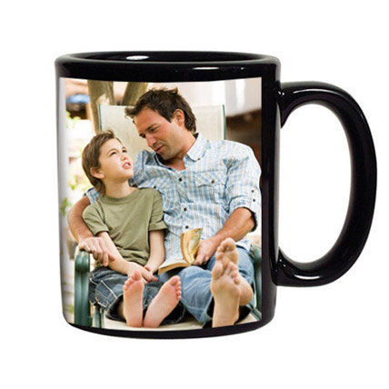 Personalized Black Coffee Mug: Personalised Gifts for Father