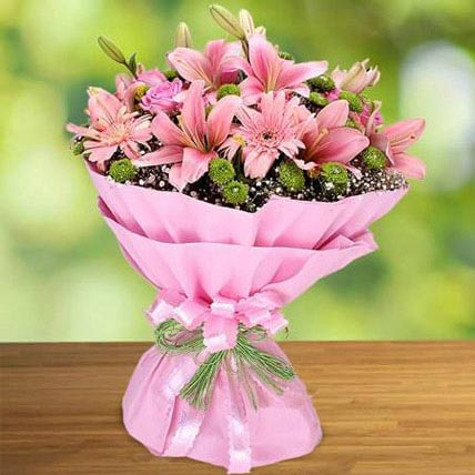 Pink Beauty: Birthday Flowers for Wife