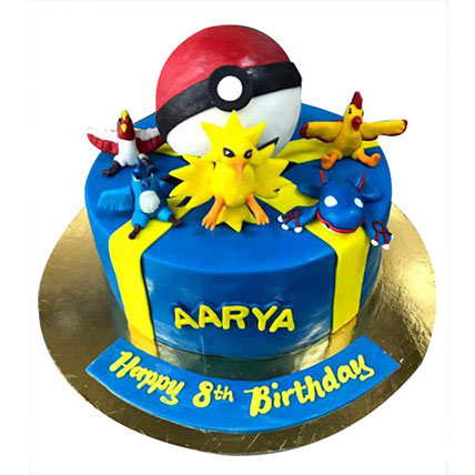 Pokemon at one place Cake: Pokemon Cake Ideas