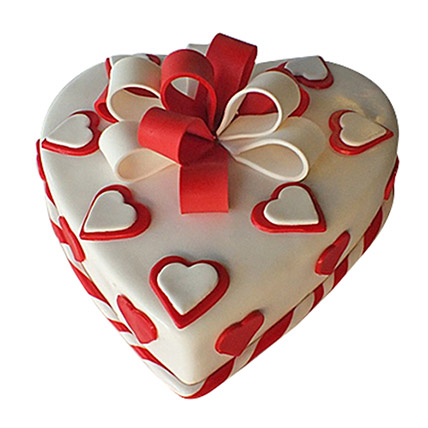 Red Ribbon Cake: Valentine Gifts for Wife