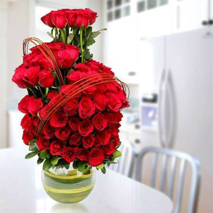 Romantic Arrangement: I Miss You Flowers