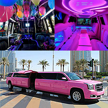 Royal Pink Limousine Experience: Experiential Gifts