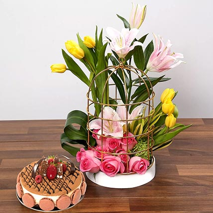 Flowers N Cakes Combo for Father's Day