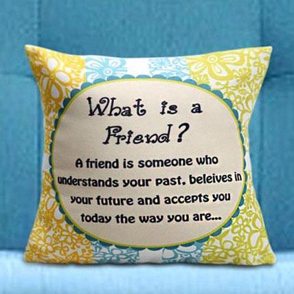 True Friends Cushion: Friendship Day Cushions