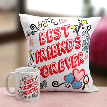 Best Friends Mug N Cushion: Friendship Day Gift Ideas 2020