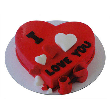 Valentine Heart Cake: Heart Shaped Cake Delivery