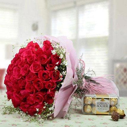 Elegant Combo For U: Valentines Day Chocolates