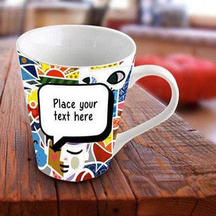 Personalized Vibrant Mug: Karwa Chauth Personalised Gifts