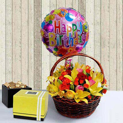 Elegant N Sublime: Birthday Basket Arrangements