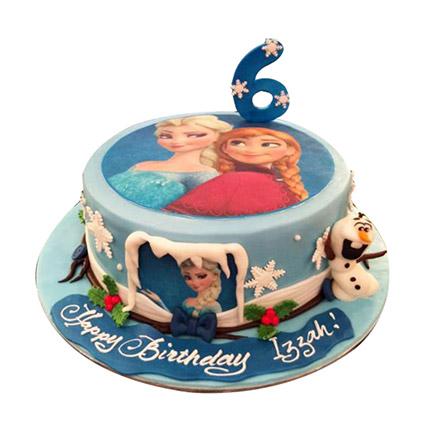 Elsa N Anna Cake: Frozen Birthday Cake