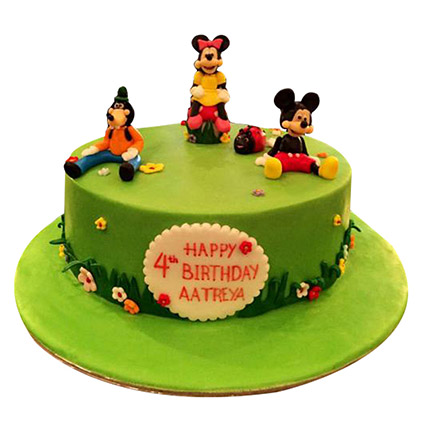 Mickey and Family Cake: Cartoon Birthday Cakes