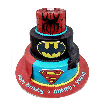 Heroes Combined Cake: Spiderman Cake Ideas