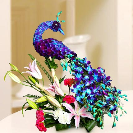 Floral Peacock Charm: Premium Gifts