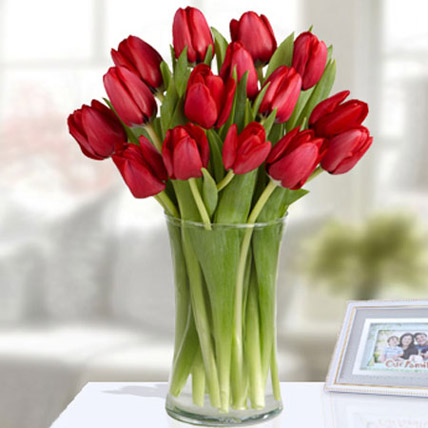 20 Red Tulip Arrangement: