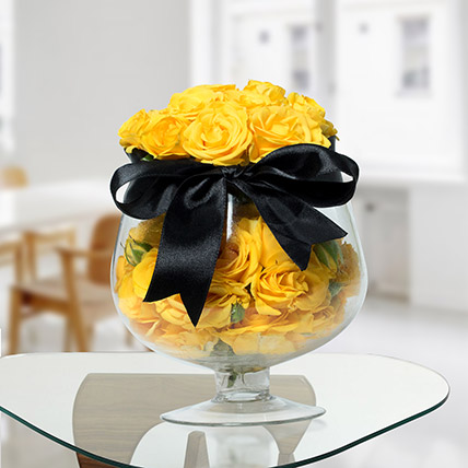 Lively Yellow Rose Arrangement: Easter Flower Delivery