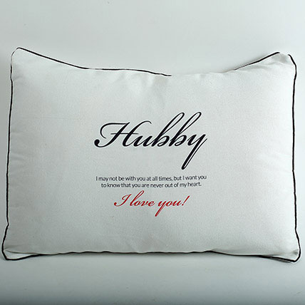 Hubby Pillow Cover: Anniversary Cushions