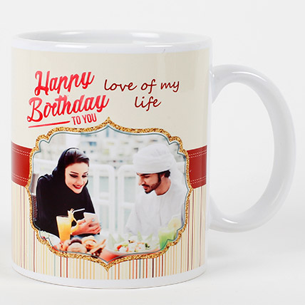 Romantic Birthday Personalized Mug: Personalised Gifts for Wife