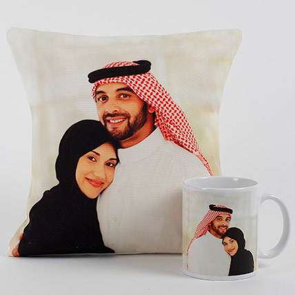 Lovable Personalized Cushion N Mug: Personalised Anniversary Mugs