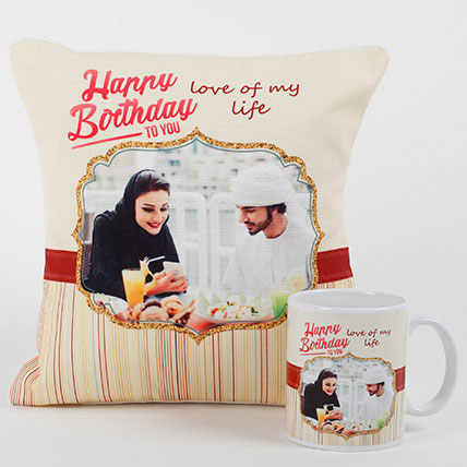 Romantic Personalized Mug N Cushion: Birthday Gift Ideas