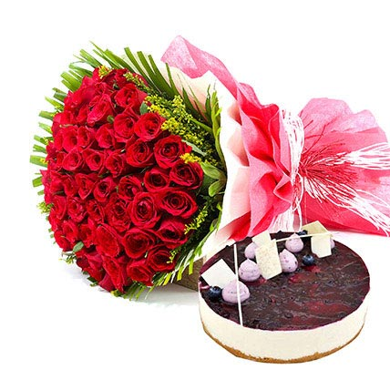 A Rosy picture of love: Fathers Day Flowers & Cakes
