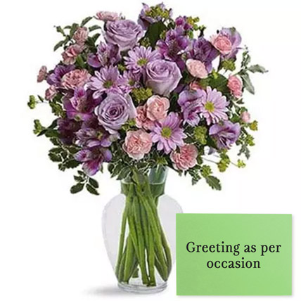 Ornamental Flowers With Greeting Card: Karwa Chauth Flowers & Greeting Cards