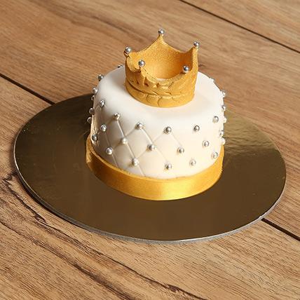 Designer Crowned Mono Cake: