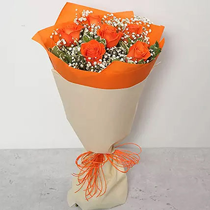 Bouquet Of Orange Roses: Flowers for Colleague