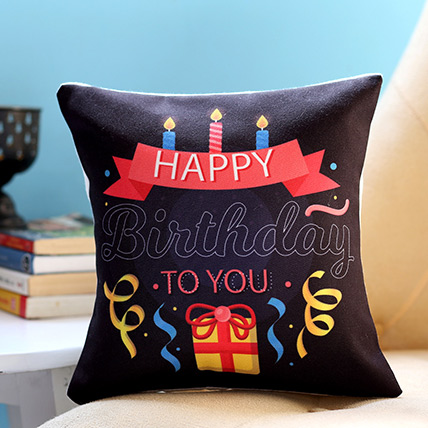 Birthday Candles and Gift Cushion: Personalised Cushions