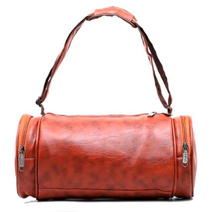 Duffle Gym Leather Bag: