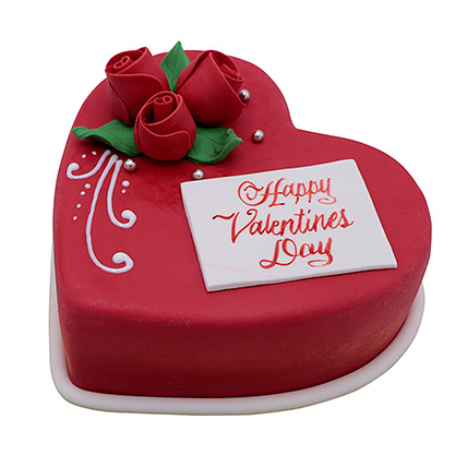 Heart Shaped Valentine Cake 1Kg: Valentines Gifts