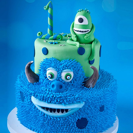 Mike and James From Monsters Cake 6 Kg: 3D Cakes
