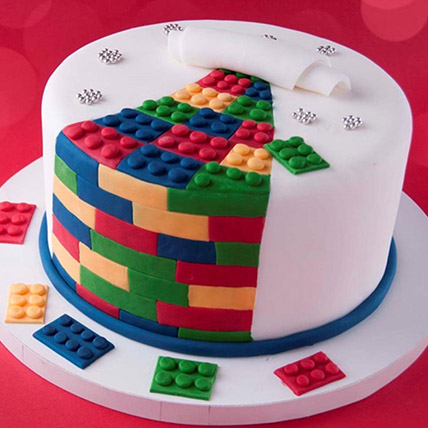 The Lego Blocks Cake 3 Kg: Lego Birthday Cake