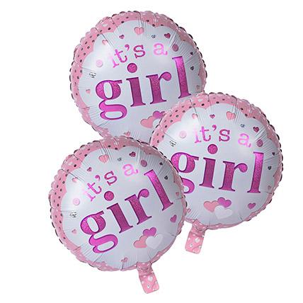 Its A Girl Foil Balloons: Helium Balloons Dubai