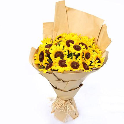 Sunny Hill 20 Sunflowers Bouquet: